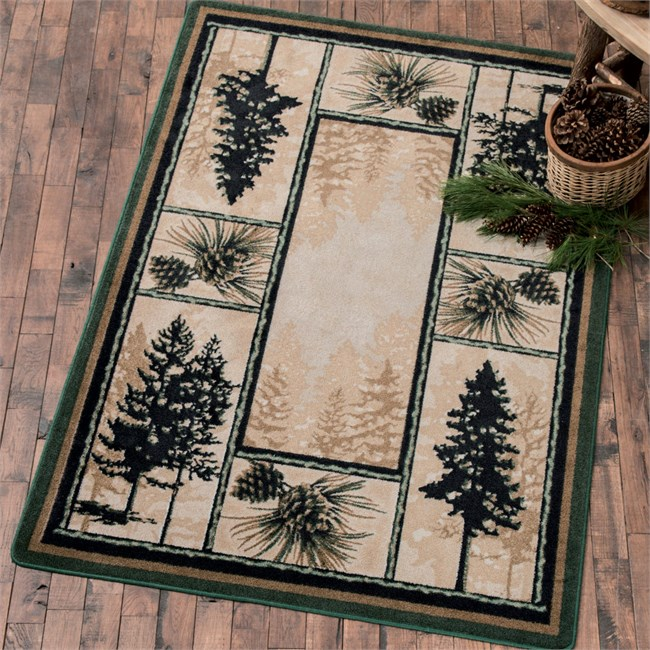 Stoic Pine Trees Rug from Black Forest Decor!