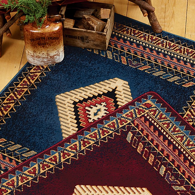Saguaro Burgundy Area Rug from The Cabin Place!