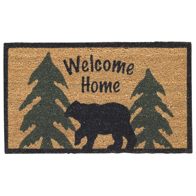 Bear Adventure Welcome Mat from The Cabin Place!