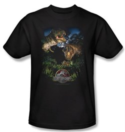 Jurassic Park T-shirt Movie Happy Family Black Tee Shirt