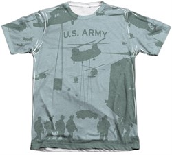 Army Shirt Airborne Poly/Cotton Sublimation T-Shirt Front/Back Print