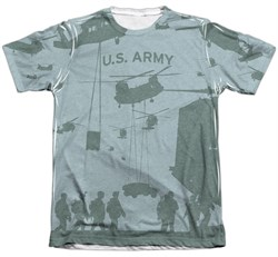 Army Shirt Airborne Poly/Cotton Sublimation T-Shirt