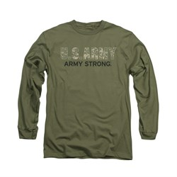 Army Shirt Camo Army Strong Long Sleeve Olive Tee T-Shirt