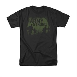 Army Shirt Distressed Army Strong Black T-Shirt