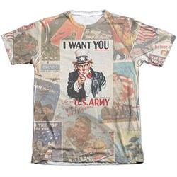 Army Shirt I Want You Poly/Cotton Sublimation T-Shirt