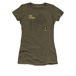 Army Shirt Juniors What Kind Of Strong Olive T-Shirt