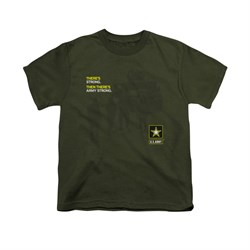 Army Shirt Kids What Kind Of Strong Olive T-Shirt