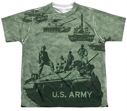 Army Shirt Tank Up Sublimation Youth T-Shirt Front/Back Print