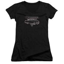 Buick Juniors V Neck Shirt 1952 Roadmaster Black T-Shirt