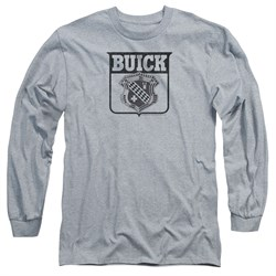 Buick Long Sleeve Shirt 1946 Emblem Athletic Heather Tee T-Shirt