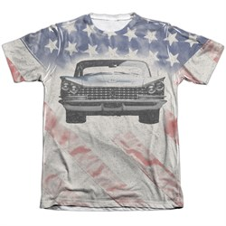 Buick Shirt 1959 Electra Flag Poly/Cotton Sublimation T-Shirt Front/Back Print