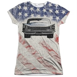 Buick Shirt 1959 Electra Flag Sublimation Juniors T-Shirt