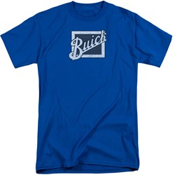 Buick Shirt Distressed Emblen Royal Blue Tall T-Shirt