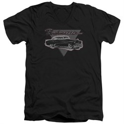 Buick Slim Fit V-Neck Shirt 1952 Roadmaster Black T-Shirt
