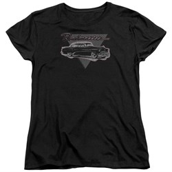 Buick Womens Shirt 1952 Roadmaster Black T-Shirt