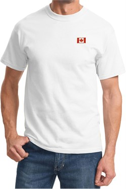 Canada Flag Patch Pocket Print T-shirt