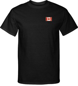 Canada Flag Patch Pocket Print Tall T-shirt