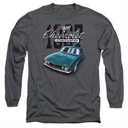 Chevy Long Sleeve Shirt Blue Classic Camaro Charcoal Tee T-Shirt