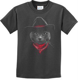 Cowboy Cat Kids T-shirt