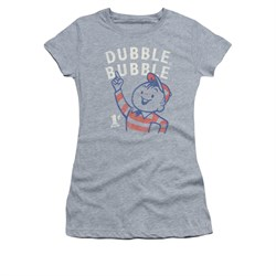 Double Bubble Shirt Juniors Pointing Athletic Heather T-Shirt