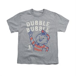 Double Bubble Shirt Kids Pointing Athletic Heather T-Shirt