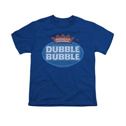 Double Bubble Shirt Kids Vintage Logo Royal Blue T-Shirt