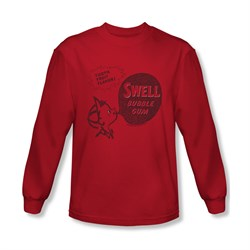 Double Bubble Shirt Swell Gum Long Sleeve Red Tee T-Shirt