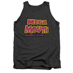 Double Bubble Shirt Tank Top Mega Mouth Charcoal Tanktop