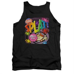 Double Bubble Shirt Tank Top Splat Gum Black Tanktop