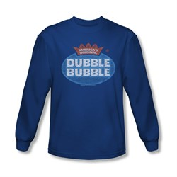 Double Bubble Shirt Vintage Logo Long Sleeve Royal Blue Tee T-Shirt