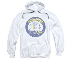 Dum Dums Hoodie 5 For 5 Cents White Sweatshirt Hoody