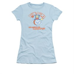 Dum Dums Shirt Juniors Classic Pop Light Blue T-Shirt