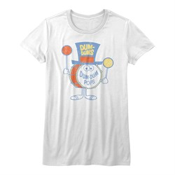 Dum Dums Shirt Juniors Pops White T-Shirt