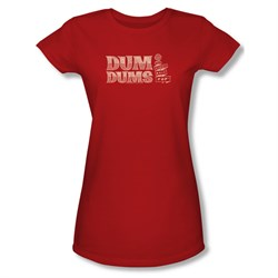 Dum Dums Shirt Juniors Worlds Best Red T-Shirt