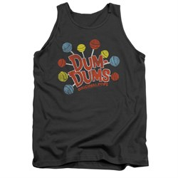Dum Dums Shirt Tank Top Original Pops Charcoal Tanktop