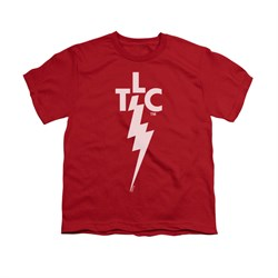elvis presley shirt kids tlc logo red t-shirt