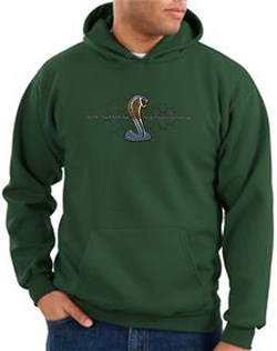 Ford Mustang Cobra Hoodie  Ford Motor Grill Adult Dark Green Hoody