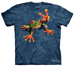 Frog Kids Shirt Tie Dye Victory Peace T-shirt Tee Youth