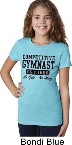 Girls Gymnastics Shirt Competitive Gymnast Tee T-Shirt