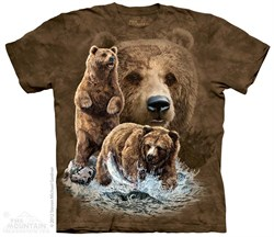 Grizzly Bears Shirt Tie Dye Adult T-Shirt Tee