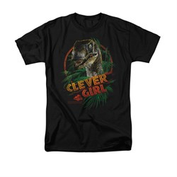 Jurassic Park Shirt Clever Girl Adult Black Tee T-Shirt