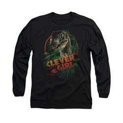 Jurassic Park Shirt Clever Girl Long Sleeve Black Tee T-Shirt