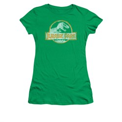Jurassic Park Shirt Juniors Jp Orange Kelly Green Tee T-Shirt
