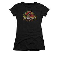 Jurassic Park Shirt Juniors Something Has Survived Black Tee T-Shirt