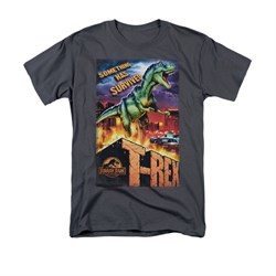 Jurassic Park Shirt Rex In The City Adult Charcoal Tee T-Shirt