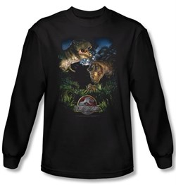 Jurassic Park T-shirt Movie Happy Family Adult Black Long Sleeve Shirt