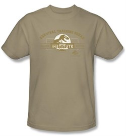Jurassic Park T-shirt Movie Survival Training Camp Adult Sand Shirt