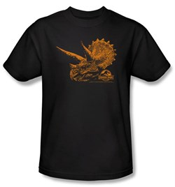 Jurassic Park T-shirt Movie Tri Dinosaur Mount Adult Black Tee Shirt
