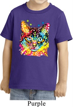 Kids Cat Shirt Blue Eyes Cat Toddler Tee T-Shirt