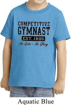 Kids Gymnastics Shirt Competitive Gymnast Toddler Tee T-Shirt